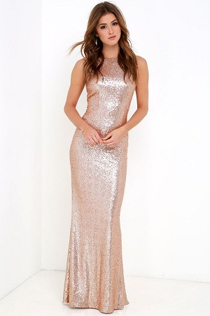 Sequin Body Hugging Dress