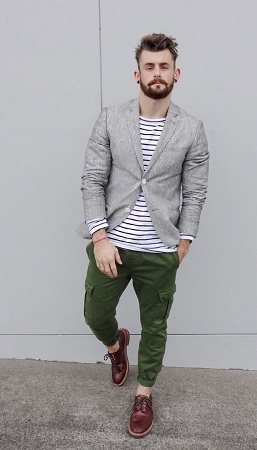 Cargo trousers with Brogues