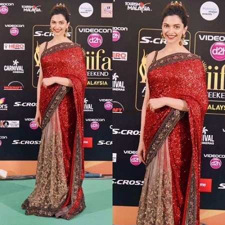 deepika-in-red-saree