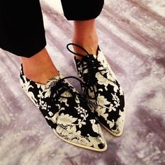 Floral Printed Brogues For Women