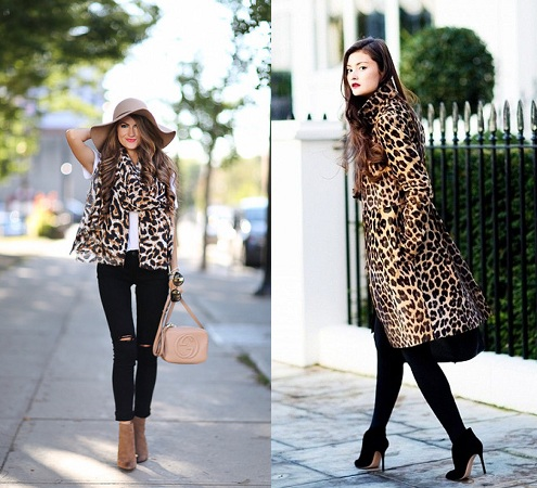 Leopard Print With Ankle Length Boots