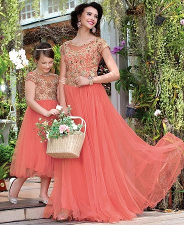 Mother Daughter Matching Gown