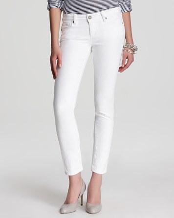 Optic-White Denim Jeans Online