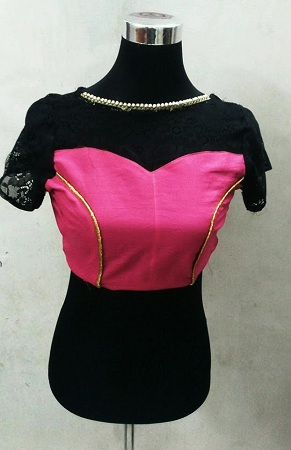 Princess Cut Blouse with Boat Neck Pattern