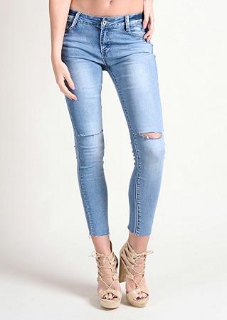 Raw Edge Jeans Online