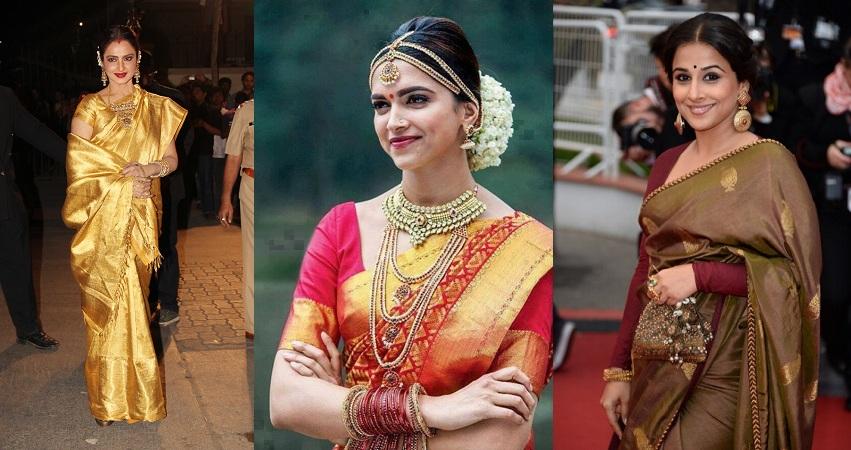 Bollywood Divas In Kanjeevaram Silk Saree
