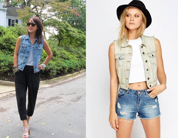 Sleeveless Tops With Jackets