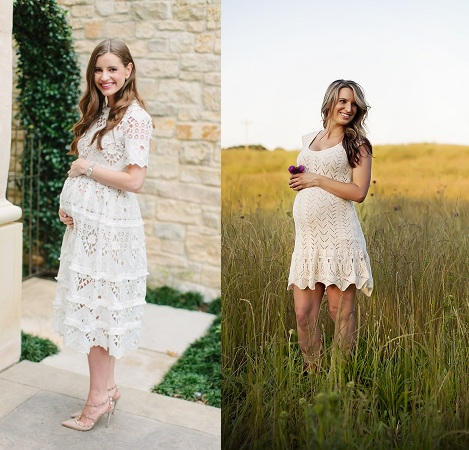 white-lace-maternity-outfit