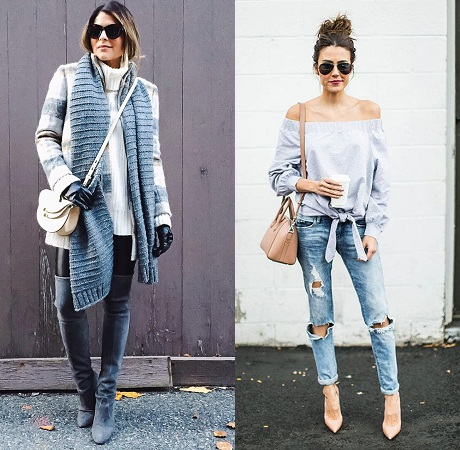 Jeans and Top With Cross Body Bag