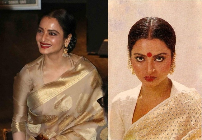 Rekha In Chinese Collar Blouse