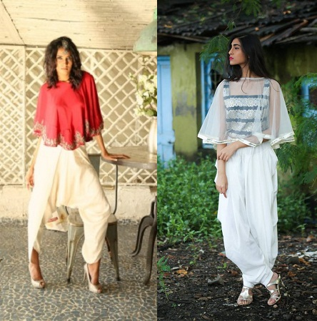 Dhoti Pant With Cape Top