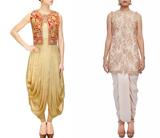 Dhoti Pant With Embroidered Jacket