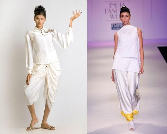 Dhoti Pant With White Shirt