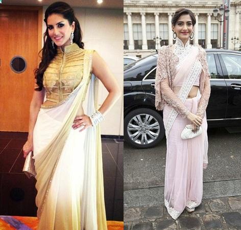 Draped Saris