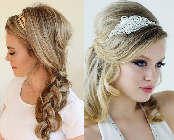 Messy Hairstyle With Side Braid