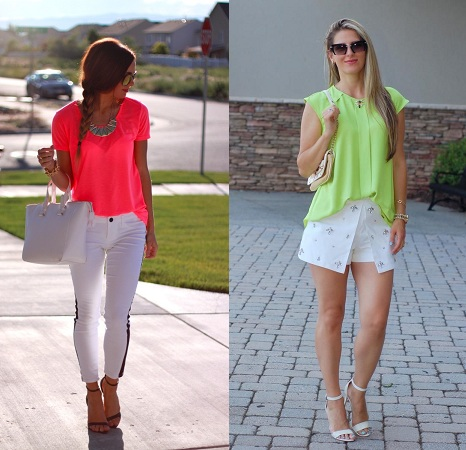 Neon Color Outfiit For Monsoon