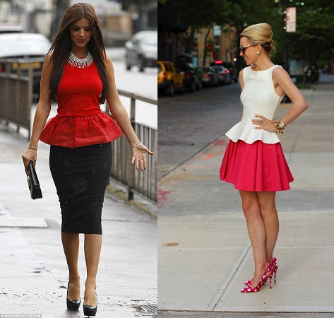 Peplum Tops with Skirt