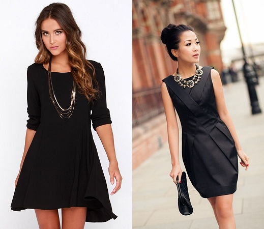 Plain Dress With Neckpiece