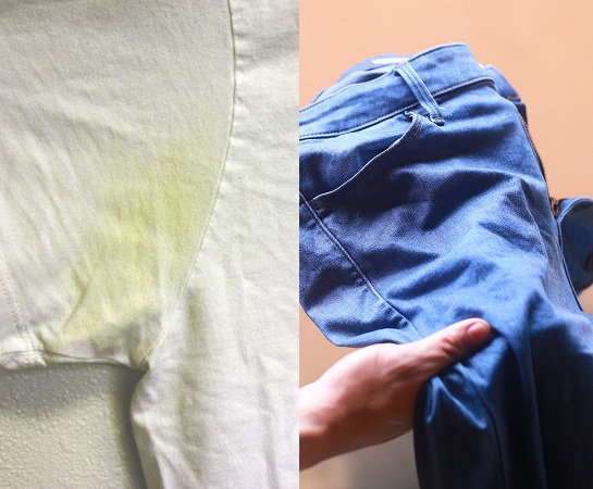 remove-the-deodorant-stains-by-using-pair-of-old-jeans