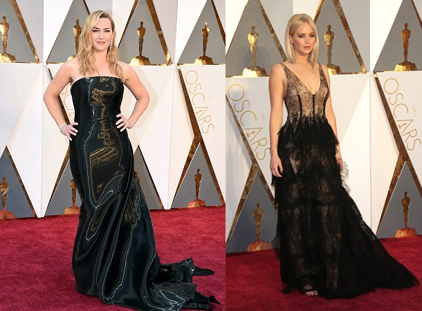 Straight Black Gowns