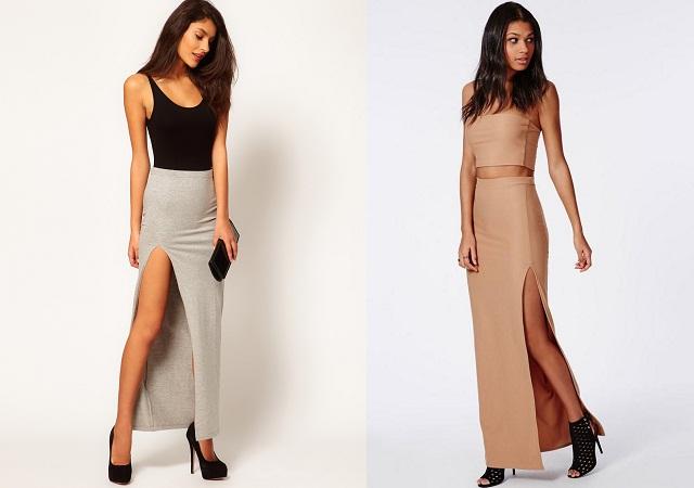 Thigh High Slit Skirt