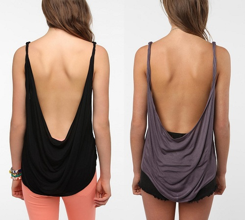 Backless Open Back Tops