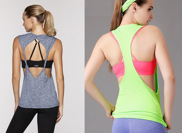 Backless Workout Tops