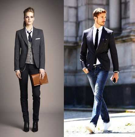 Blazer With Jeans And Tie