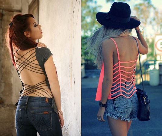 Cut-out Backless Tops