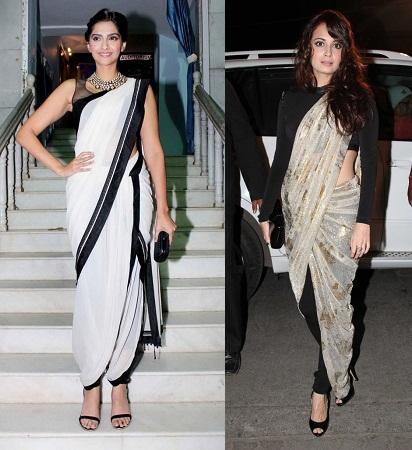 Dhoti Style Saree