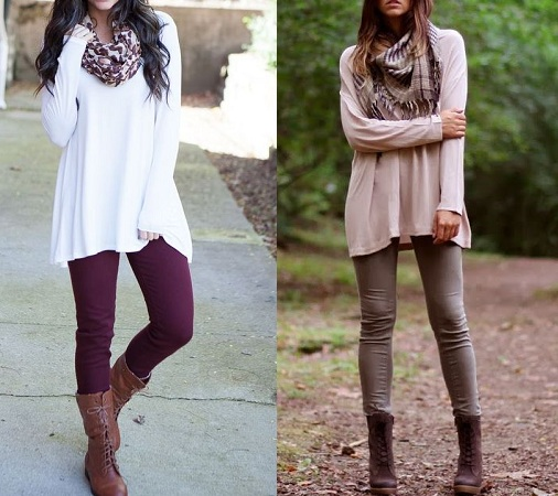 Flowy Dress With Leggings