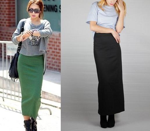 Long Pencil Skirts