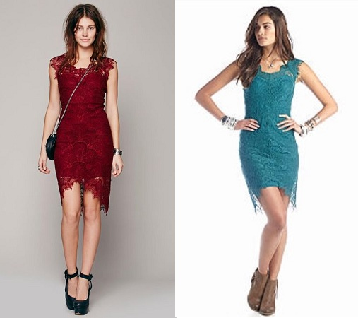 Peek-a-boo Lace-Dress