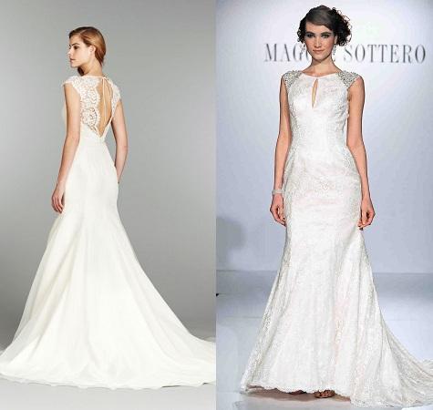 Peek-a-boo Wedding Dress