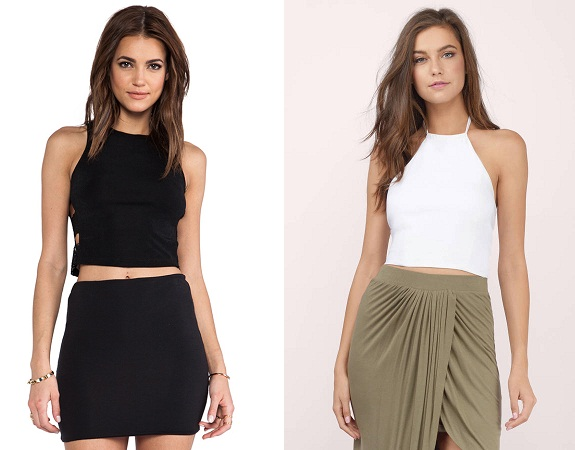 Pencil Skirt With Halter top