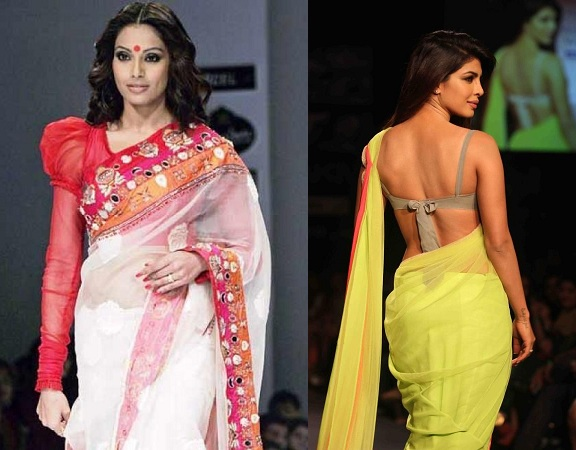 Sarees With Fashionable Blouses