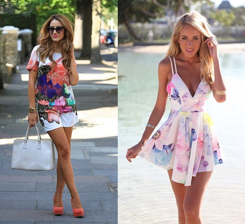 Summer Outfit In Floral Prints