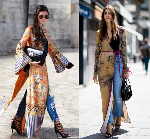 robe over jeans