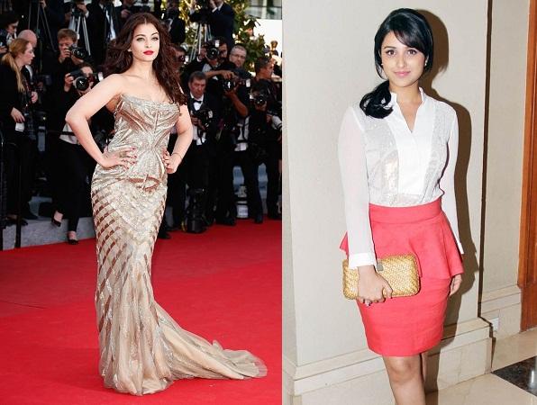 Actress In Peplum Dress