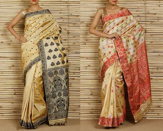 Assam silk or Muga silk Sarees