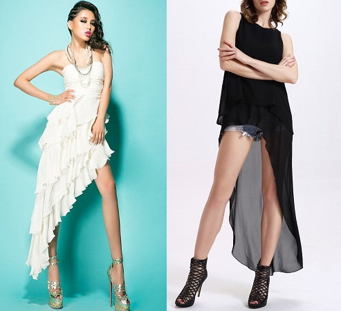 Asymmetrical Knee Lenght Dress