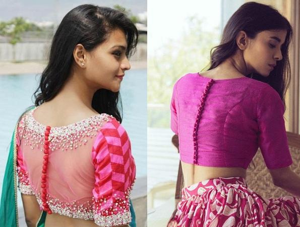 Back button blouse