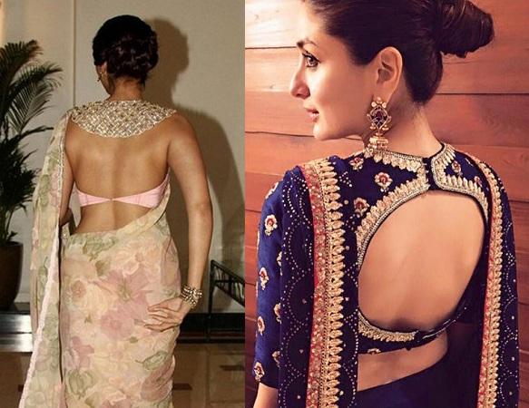 Back open blouse style