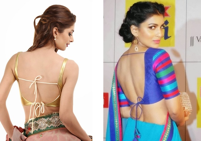 Backless Blouse Knot Designs