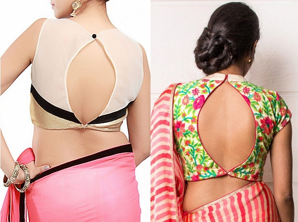 Backless Blouse With An Oval Opening