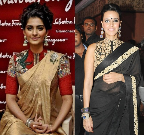 Celebrity Style Saree Blouse