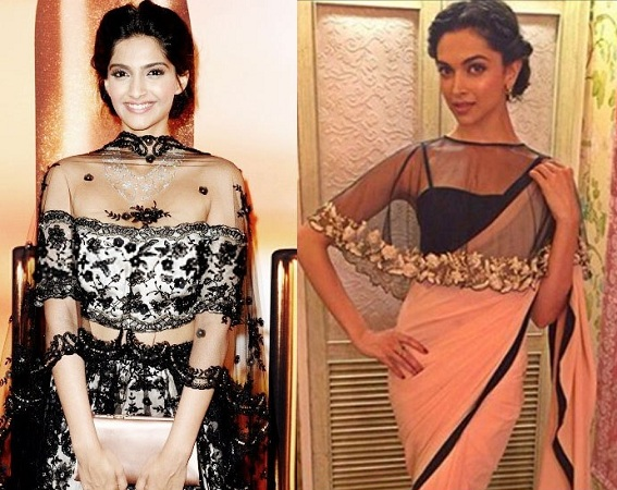 Celebs in cape styled blouses