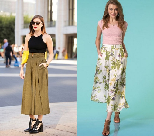 Crop Top Culottes Outfit