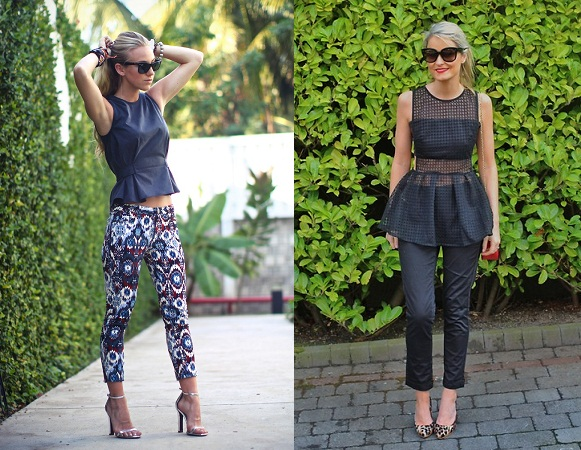 Cropped Pant With Peplum Top