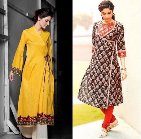 Different Fabrics Used For Angrakha Style Kurti